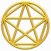 stock photo of pentagram  - Pentagram  - JPG