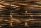 Old Dark Burnt Wood Background. Scorched Wooden Board Plank Texture. Natural Rustic Photo Backdrop F poster