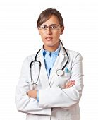 Woman Doctor Standing
