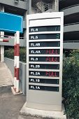 Signboard Display For Availability Car Parking In Department Store. poster
