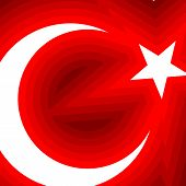 Abstract Flag Of Turkey Backgroung A Moon With A Star On A Red Background Theme Of The Turkish Flag  poster