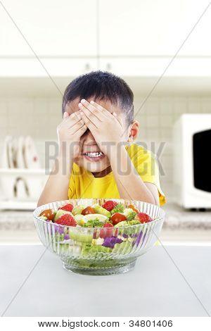 Típico chico que odia los vegetales