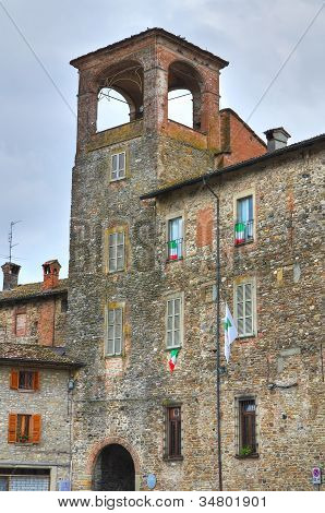 Anguissola Castle. Travo. Emilia-Romagna. Italy.