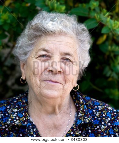 Portrait Of Happy Senior Lady