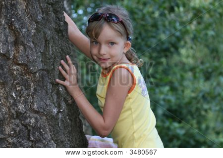 Young Girl In The Model Pose