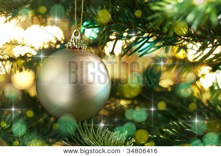 Decorative Gold Christmas Bauble