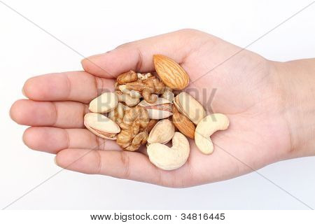 Healthy Food-alamond,cashews And Wallnuts