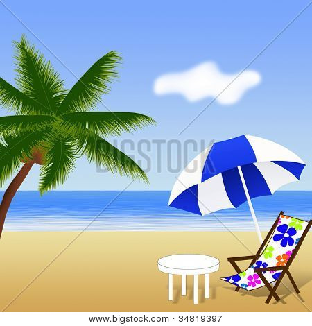 Praia lindo de Verão.