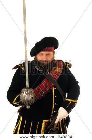 Scottish Warrior With Sword