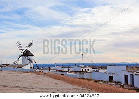 Campo De Criptana View, Castilla La Mancha Province, Spain