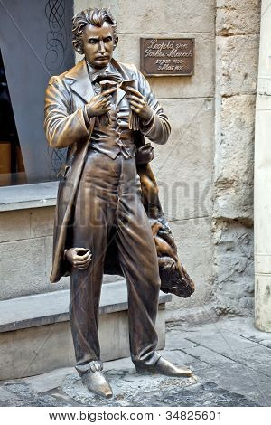 The Monument Of Leopold Von Sacher-masoch In Lviv