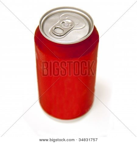 Soda pop can on white - no logo