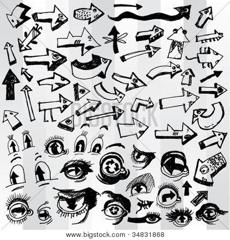 Set of Many Funny Arrows