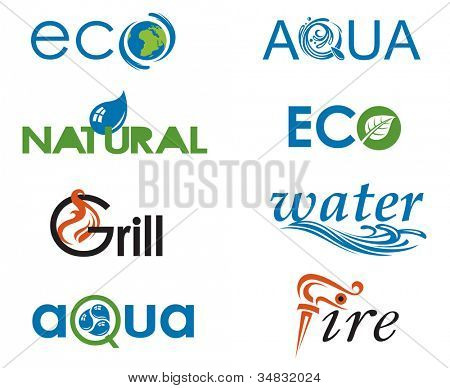 set of water and natural products design elements