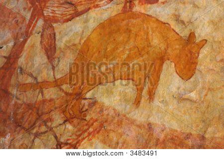 Wallabie Painting