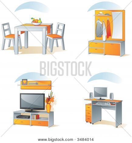 Icon Set - Home Furniture Items, Part 2