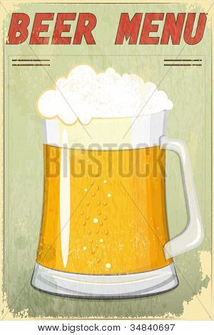 Retro Design Beer Menu