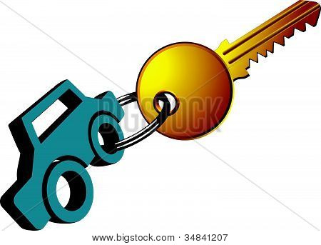 Car Ring And Key