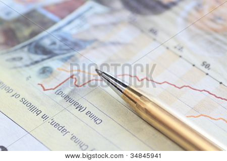 Pen And Newspaper (the Nikkei)