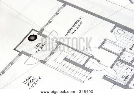 Desenho de planta arquitetônica