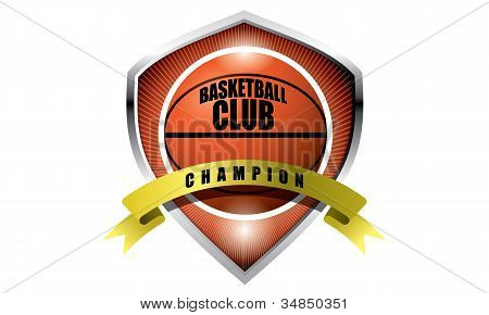 Basketball champion badge