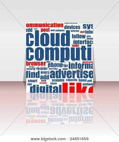 Flyer Or Cover, Cloud Computing Concept Design