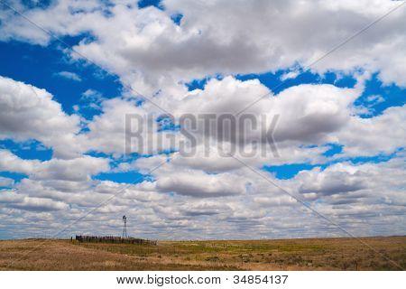 Clouds Over Nebraska Farm