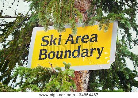 Ski Area Boundry