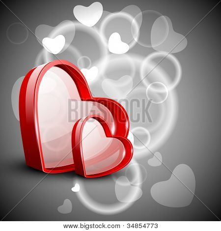Red Valentine Hearts. EPS 10.