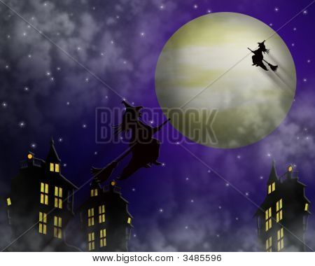 Witching Hour Halloween Illustration