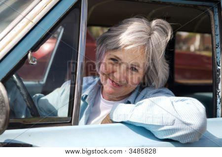 Senior Taking A Drive