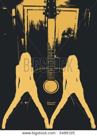 Dancing Girls And Guitar