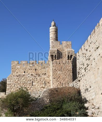 Tower of David. The Eternal Jerusalem, surrounded by walls of unbreakable