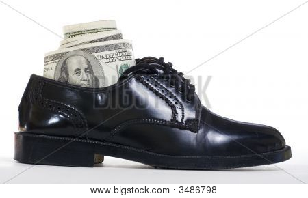 Dollars In Shoe