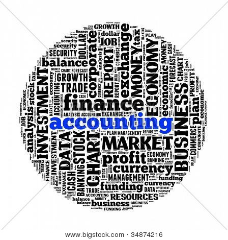 Accounting in word collage