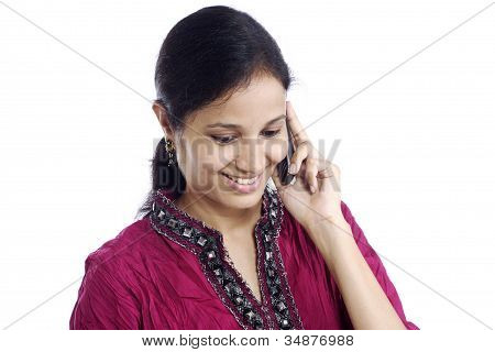 Young Woman Talking On A Mobile