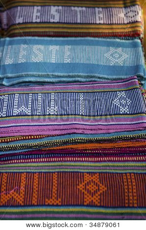 Tais Traditional Fabric In Dili East Timor
