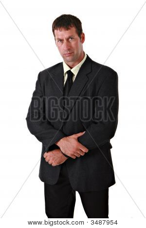 Confident Businessman In Suit