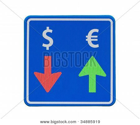One-way Euro And Dollar Currency Traffic