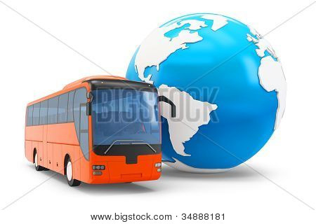 3D Bus Travel Around The Globe