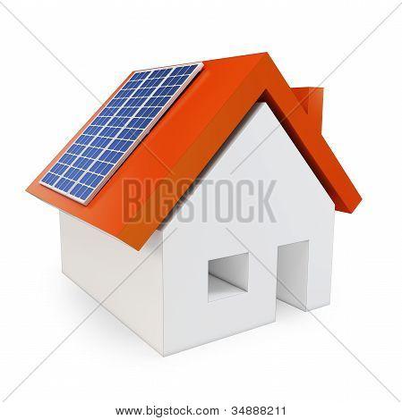 3D House With Solar Power