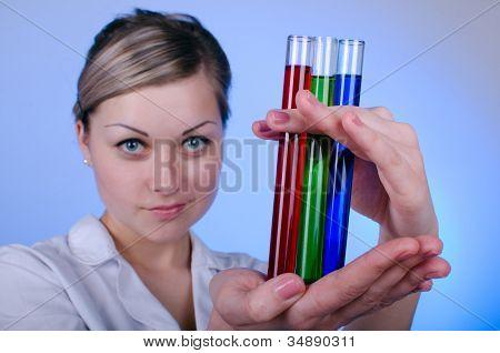 Girl researcher RGB
