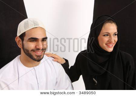 Feliz pareja Árabe