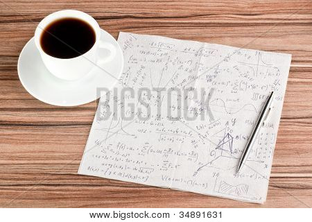 Mathematical Calculations On A Napkin