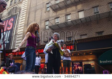 Bernadette Peters & Rita Moreno with Friend