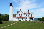 stock photo of iroquois  - Point Iroquois Lighthouse in the Upper Peninsula of Michigan - JPG