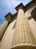 picture of amtrak  - Union Station at Washington DC Showing Columns - JPG
