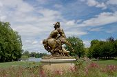stock photo of centaur  - Statue of female centaur and male human - JPG