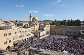 pic of sukkot  - The Western Wall in Jerusalem temple - JPG