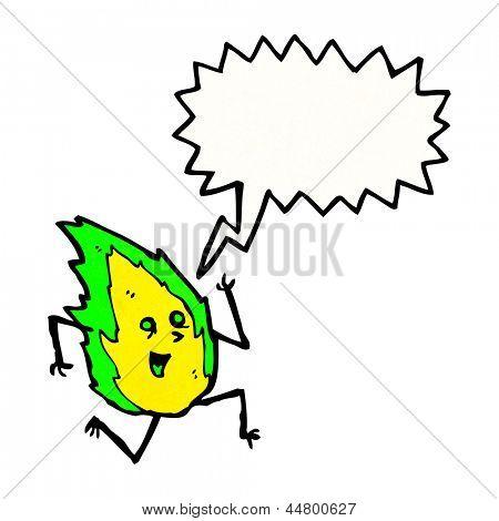 cartoon flame sprite